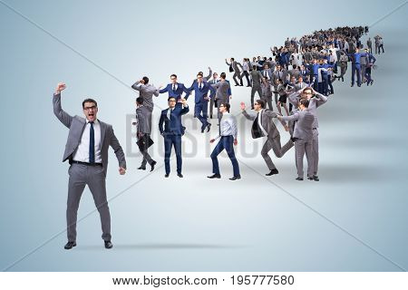 Crowd of business people in concept