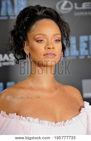 Rihanna at the World premiere of 'Valerian And The City Of A Thousand Planets' held at the TCL Chinese Theatre in Hollywood, USA on July 17, 2017.