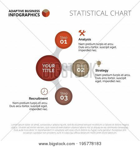 Circle process chart. Abstract element of circle diagram, presentation, chart. Concept for business data, templates and reports. Can be used for topics like business strategy, marketing, management