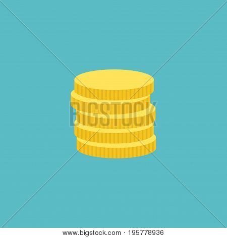 Flat Icon Coins Element. Vector Illustration Of Flat Icon Small Change Isolated On Clean Background