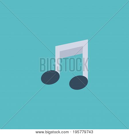 Flat Icon Musical Note Element. Vector Illustration Of Flat Icon Tone Symbol Isolated On Clean Background