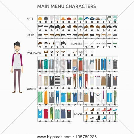 Character Creation Graphic Designer | set of vector character illustration use for human, profession, business, marketing and much more.The set can be used for several purposes like: websites, print templates, presentation templates, and promotional mater