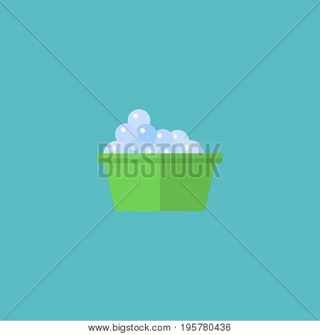 Flat Icon Washcloth Element. Vector Illustration Of Flat Icon Laundry Isolated On Clean Background