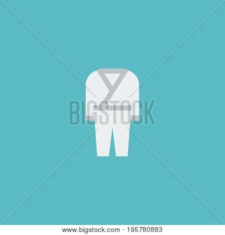 Flat Icon Kimono Element. Vector Illustration Of Flat Icon Uniform  Isolated On Clean Background