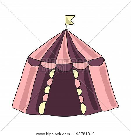 The circus tent or dwelling of nomadic people. Vector illustratioin, isolated on white background.