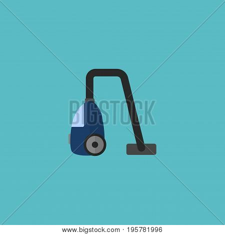 Flat Icon Vacuum Cleaner Element. Vector Illustration Of Flat Icon Sweeper Isolated On Clean Background