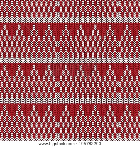 red and white triangle stack with white striped knitting pattern background vector illustration image