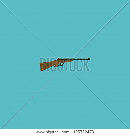 Flat Icon Hunting Rifle Element. Vector Illustration Of Flat Icon Weapon Isolated On Clean Background