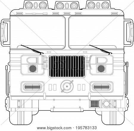 B&w Fire Engine