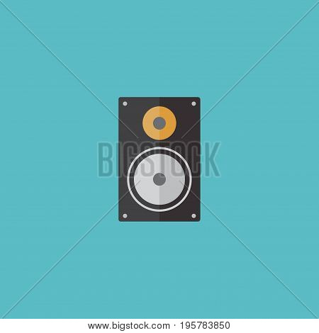 Flat Icon Loudspeaker Element. Vector Illustration Of Flat Icon Amplifier Isolated On Clean Background