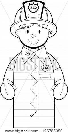 Colour In Fire Fighter