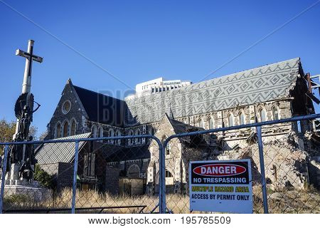 Christchurch Cathedral Demolished By Earthquake