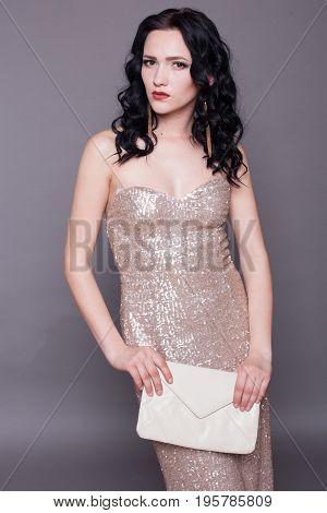 beautiful stylish girl cocktail dress handbag 1