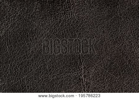 Black Natural Leather Texture Background