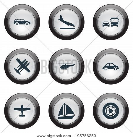Vector Illustration Set Of Simple Shipment Icons