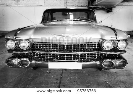 MOSCOW RUSSIA - JUNE 4 2017: American retro car Cadillac of the Moscow museum of retro cars