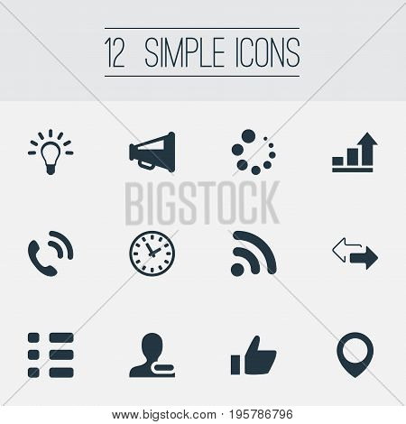 Vector Illustration Set Of Simple Interaction Icons