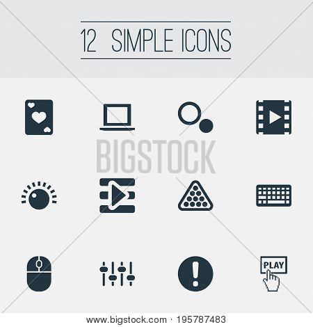 Vector Illustration Set Of Simple Play Icons