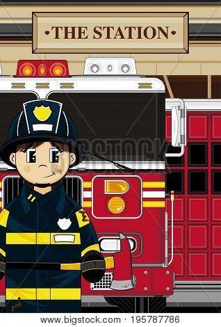 Cute Fireman Scene