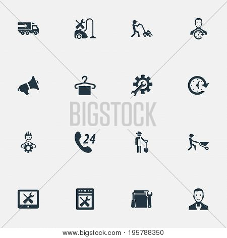 Vector Illustration Set Of Simple Help Icons
