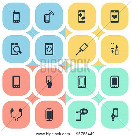 Vector Illustration Set Of Simple Smartphone Icons