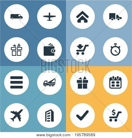 Vector Illustration Set Of Simple Carting Icons