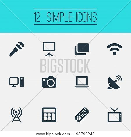 Vector Illustration Set Of Simple Hardware Icons
