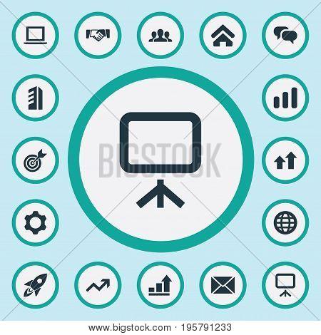 Vector Illustration Set Of Simple Entrepreneurship Icons