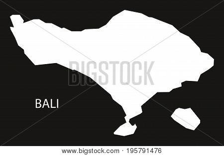 Bali Indonesia Map Black Inverted Silhouette Illustration Shape