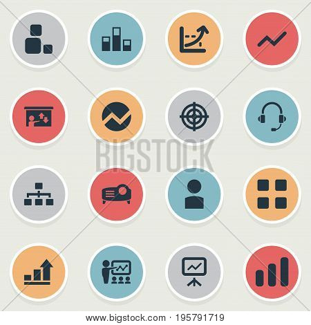 Vector Illustration Set Of Simple Presentation Icons