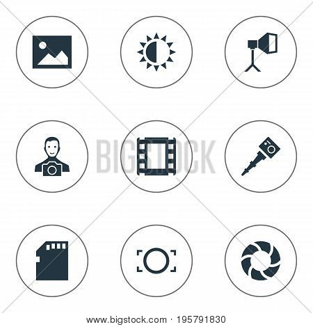 Vector Illustration Set Of Simple Photographer Icons