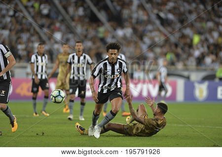 Rio Brazil - july 17 2017: Luis Ricardo player in match between Botafogo and Sport by the Brazilian championship in Nilton Santos Stadium