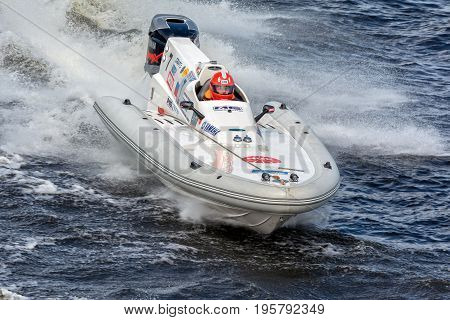 Riga, LV - JULY 16, 2017: World Championship RIB 2017 Powerboat 7