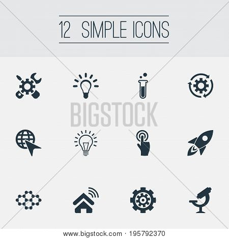 Vector Illustration Set Of Simple Creative Icons