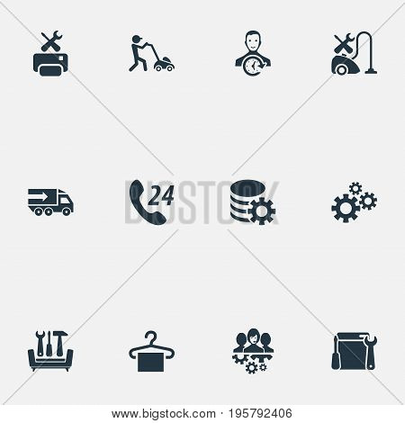 Vector Illustration Set Of Simple Information Icons