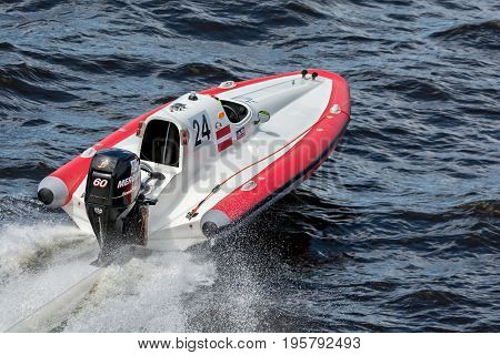Riga, LV - JULY 16, 2017: World Championship RIB 2017 Powerboat 24