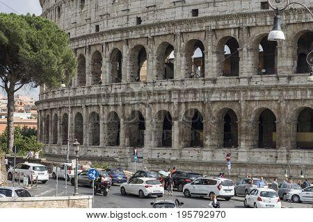 Colosseum. World famous landmark in Rome. Italy. June 2017
