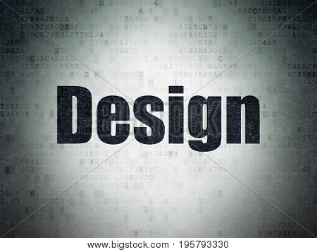 Marketing concept: Painted black word Design on Digital Data Paper background