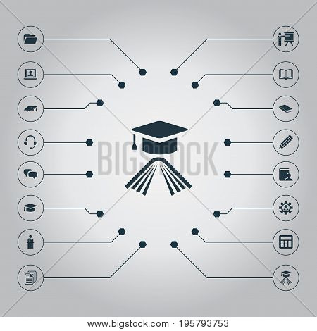 Vector Illustration Set Of Simple Conference Icons