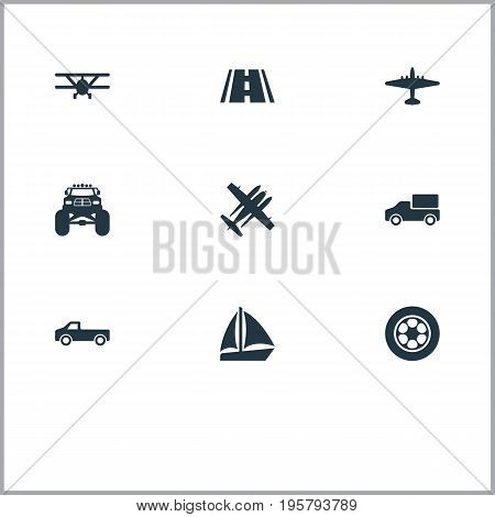 Vector Illustration Set Of Simple Transport Icons