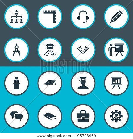 Vector Illustration Set Of Simple Seminar Icons