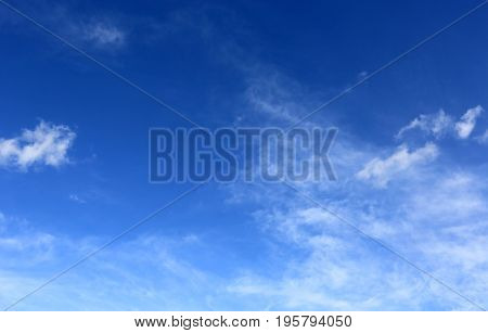 abstract summer sky with clouds