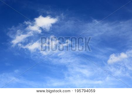 abstract view on clouds in sky