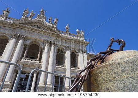 Basilica di San Giovanni in Laterano (St. John Lateran basilica). Italy Rome June 2017
