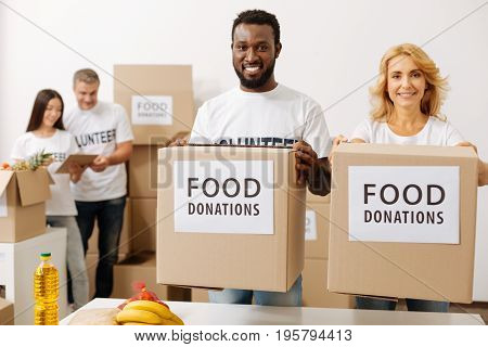 Your help is valued. Nice kind motivated men and women working for charity fund and collecting donations while shipping food supplies to those in need