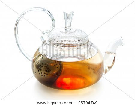Transparent teapot with welding