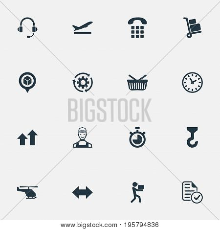 Vector Illustration Set Of Simple Engineering Icons