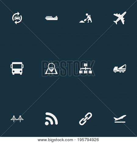 Vector Illustration Set Of Simple Public Icons