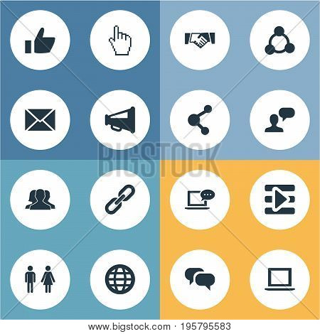 Vector Illustration Set Of Simple Internet Icons