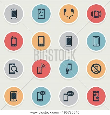 Vector Illustration Set Of Simple Telephone Icons